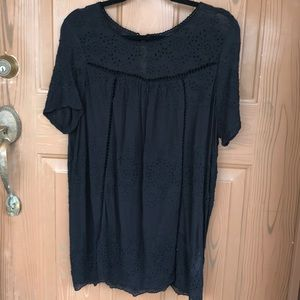 Lucky Brand Embroidered Tunic/Blouse